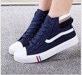 2016 Moda sapatos de alta ajuda sapatos de lona Estudantes do sexo feminino com athleticss Ms placa plana sapatos 39-44