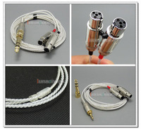 LN004725 3.5mm + 6.5mm Male PCOCC + Silver Plated 1.3m 2m 2.5m Cable Cord for Audeze LCD 3 LCD3 LCD 2 LCD2