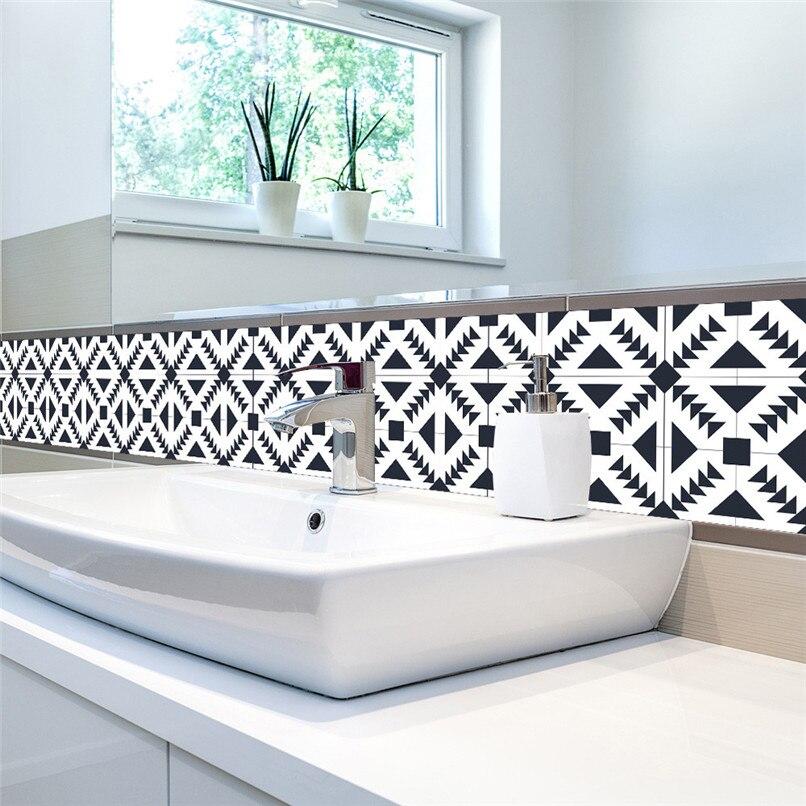 New 1 Roll Self Adhesive <font><b>Tile</b></font> Art Wall Decal Sticker DIY Kitchen Bathroom Decor Vinyl Wholesale Free Shipping 30RJ19