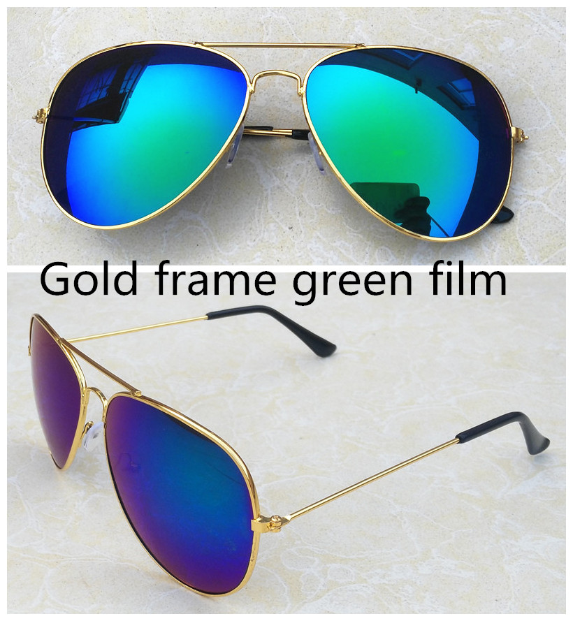 Golden Age Store Colorful sunglasses reflective sunglasses green blue red mercury Highest Quality Classic Men Women Sunglasses Eyewear Vintage