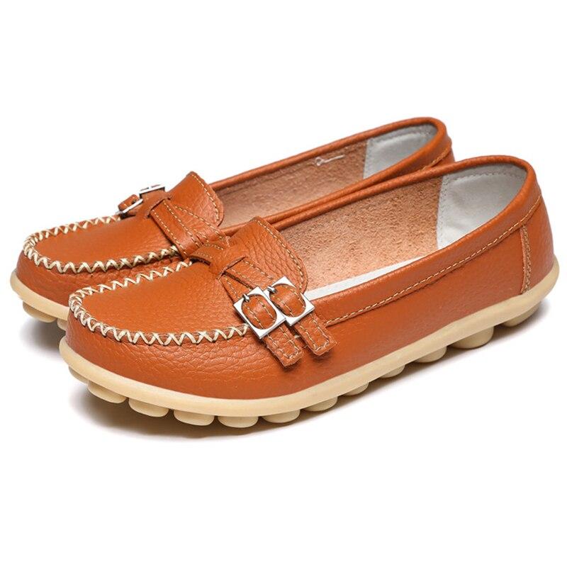 Nueva Primavera de cuero de la pu de Las Mujeres zapatos de los planos zapatos m