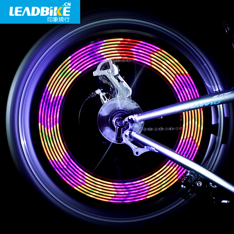 Leadbike Bicycle Light  Accessories New 14 LED Motorcycle Cycling Bike Safety Wheel Light Signal Tire Spoke Light 30 Changes