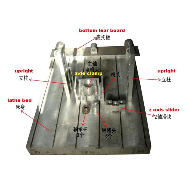 XYZ axe 600*900*80mm broche pince 80mm Machine de gravure cadre 6090 en aluminium tour lit CNC routeur