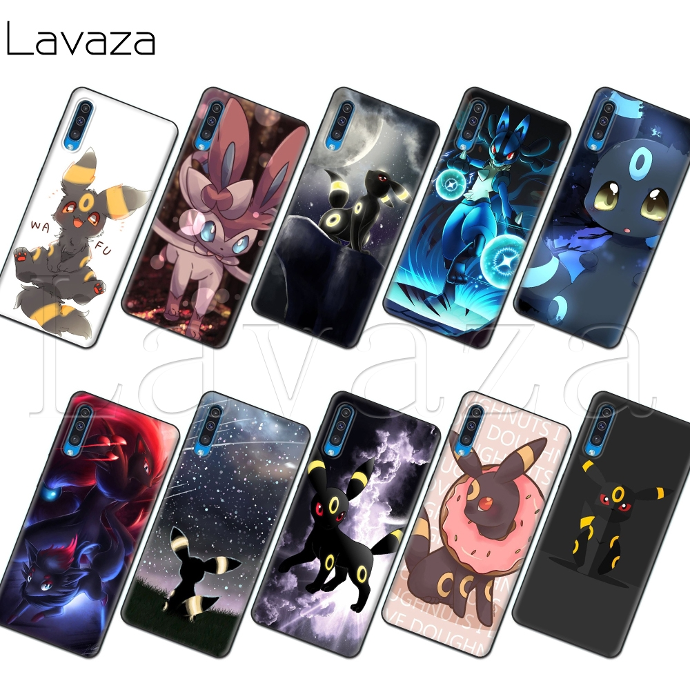 Lavaza Umbreon Pokemon Soft Case for Samsung Note A3 A5 A6 A7 A8 A9 A10s A20s A30s A40s A50s 10 A70 8 9 J6 Plus image