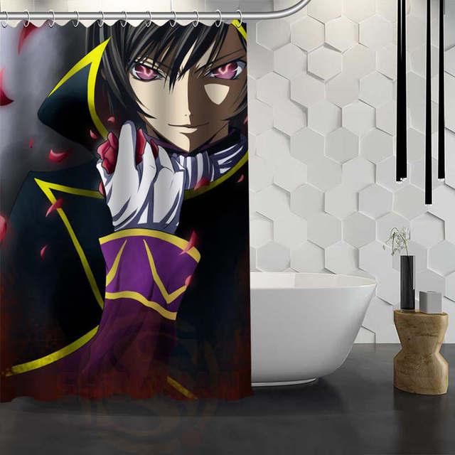 Custom Lelouch Angel Shower Curtain Waterproof Fabric Bath Curtain ...