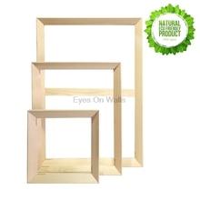 Simple Diy Wooden Inner Frame Wood Framework Photo Framework Light Frame for Canvas Prints Oil Painting Wall Art Picture Frames