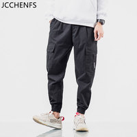 JCCHENFS 2018 Brand Men Casual Pants Pocket Tactical Cargo Pants Hip hop Style Oversized Pencil Pants Cotton Men Jogger trousers