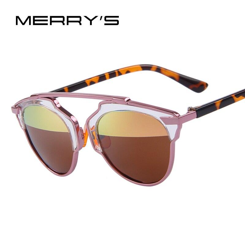 Hot Sale Mirror Flat Lense Women Cat Eye Sunglasses Classic Brand