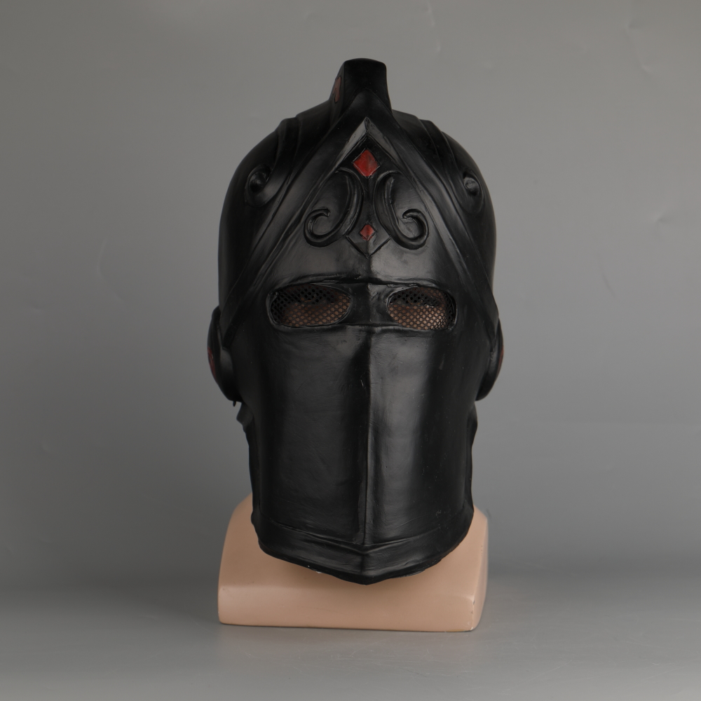 Game Fortniter Mask Cosplay Black Knight Legend Orange Skin Masks Latex Halloween Party Prop Dropshipping (35)