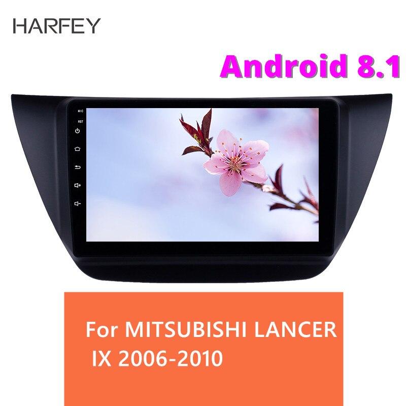 Harfey Android 8.1 9 pouces 2Din unité principale WiFi autoradio stéréo GPS voiture lecteur multimédia pour MITSUBISHI LANCER IX 2006-2010
