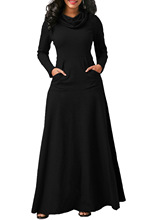 NEW Elegant Dress Full Sleeve Dresses Winter Women Scarf Collar Dress Casual Vestidos Plus Size Desses Women Vestido De Festa