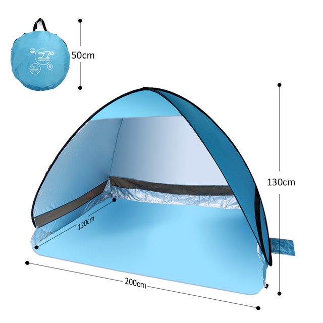 Netanmake Quick Automatic Opening beach tent sun shelter UV-protective tent shade waterproof pop up  sc 1 st  AliExpress.com & Netanmake Quick Automatic Opening beach tent sun shelter UV ...