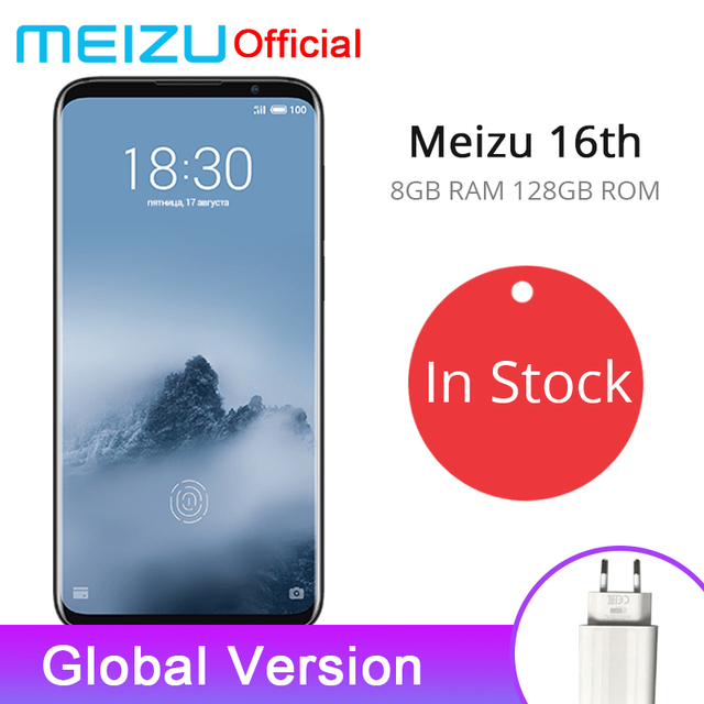 Official Meizu 16th 16 th 8GB 128GB Global Version Snapdragon 845 Octa Core 6.0'' Screen 2160x1080P 3010mAh Dual Rear Camera