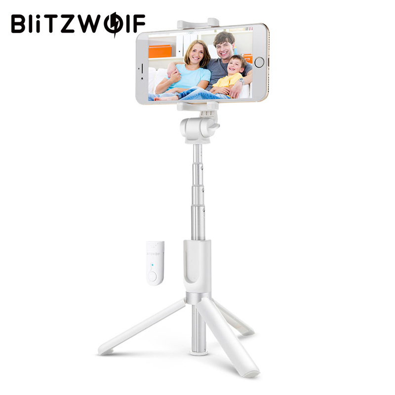 BlitzWolf 3 in 1 Bluetooth Selfie Stick Remote Tripod Universal Extendable Monopod For Samsung For iPhone X 8 Plus S9 S8