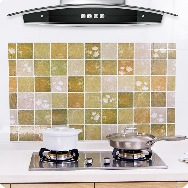 Kitchen Oil Proof Waterproof Sticker High Temperature Resistant Kitchen Stove Cabinet Stickers Self Adhesive DIY Wallpapers