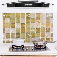 Cocina a prueba de aceite etiqueta engomada impermeable de alta temperatura resistente estufa de cocina de gabinete de pegatinas adhesivo papel pintado DIY