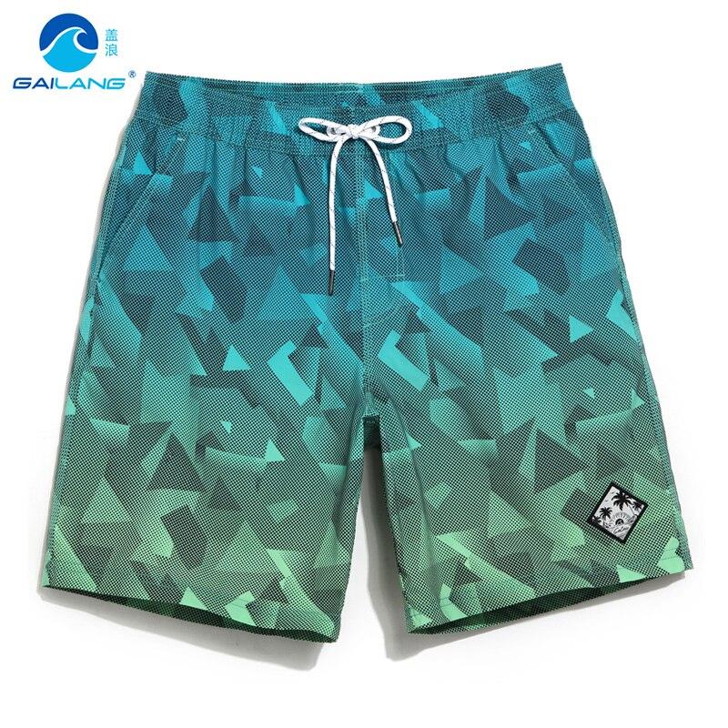 Gailang board shorts couples beach surfing liner swimwear fitness bodybuilding swimming trunks Geometric mens bathing suit men