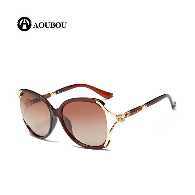6223fc1956 Hollow Diamond Large Frame Elegant Ladies Polarized Sunglasses Oculos De  Sol Driving Mas Mascu Retro