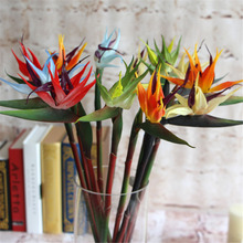 Artificial Silk Bird of Paradise Flowers Fake Plants Silk Flowers for Wedding Home Garden Party Decoration