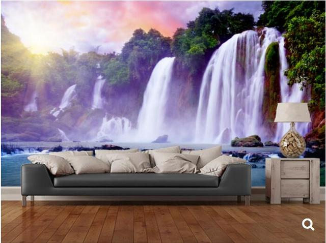Custom Natural Scenery WallpaperBanyue Waterfallphoto Mural For The Living Room Bedroom Restaurant
