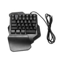Mechanical One Handed Keyboard Gaming Left Hand Game Keypad For Lol /Dota/Ow|Keyboards| |  -