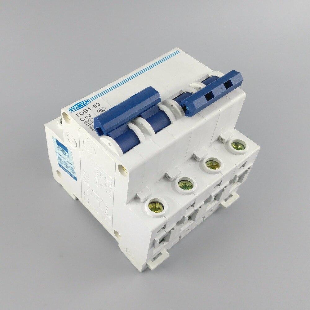 2 P disjuntor MCB MTS 63A Duplo poder chave de transferência Manual de 50 HZ/60 HZ 400 ~