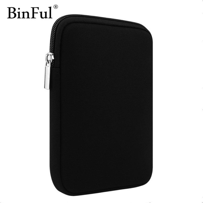 BinFul 6'' 7.9 9.7 Soft Tablet Case Cover for ipad mini 2 3 4 air 1 2 Universal Liner Sleeve Tablets Case Zipper Pouch Bag soft neoprene protective pouch case for ipad 9 7 tablets black
