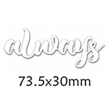 Always Enhlish Words Metal Cutting Dies DIY Scrapbooking Embossing Paper Cards Making Crafts Supplies New 2019 Diecut