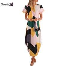 Fantaist Wholesale Women's Appeal Summer Long Dress Geometri