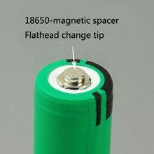 18650 прокладка плоским наконечником становится сильный магнит штук небольшой Магнит фонарик батареи spacer