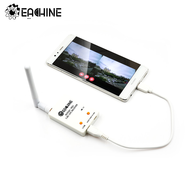 EACHINE ROTG02 UVC OTG 5.8G 150CH Audio-FPV-Empf/änger f/ür Tablet PC Smartphone Android