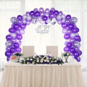 Image 2 - METABLE 100 Stück Ballon Girlande Kit Ballon Bogen Girlande für Hochzeit Geburtstag Party Dekorationen (Weiß Lila)