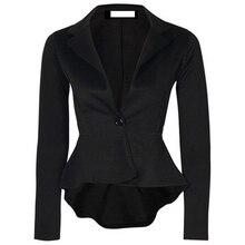 Женская мода One Button Тонкий Вскользь Бизнес Блейзер Пиджак Пальто И Пиджаки Y3