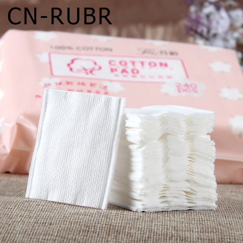 CN-RUBR Skin Care Remover Cotton Portable Makeup Cleanser Woemen Beauty Face Wipes Cotton Healthy Thickening Cotton 240pcs/Lot