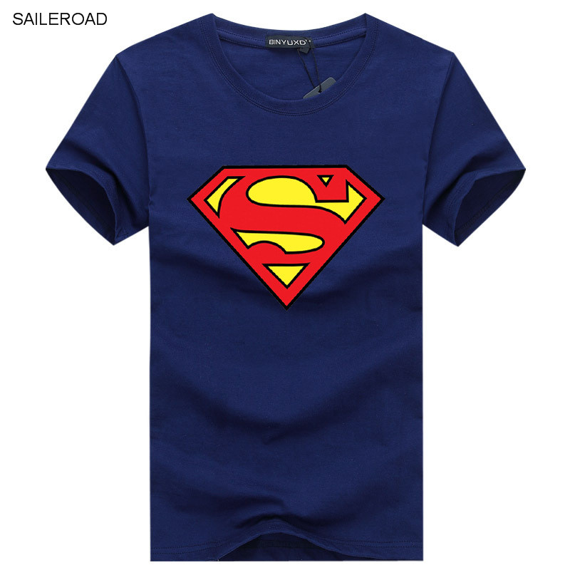 2019 Superman Printed T-Shirts Men Short Sleeve Cotton