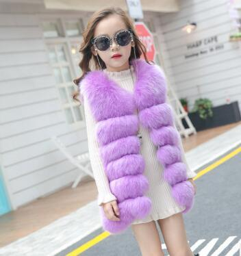 TOTO HEROS Kids Baby Girl Traditional Korean Festive Ellen Fur Vest for Girls