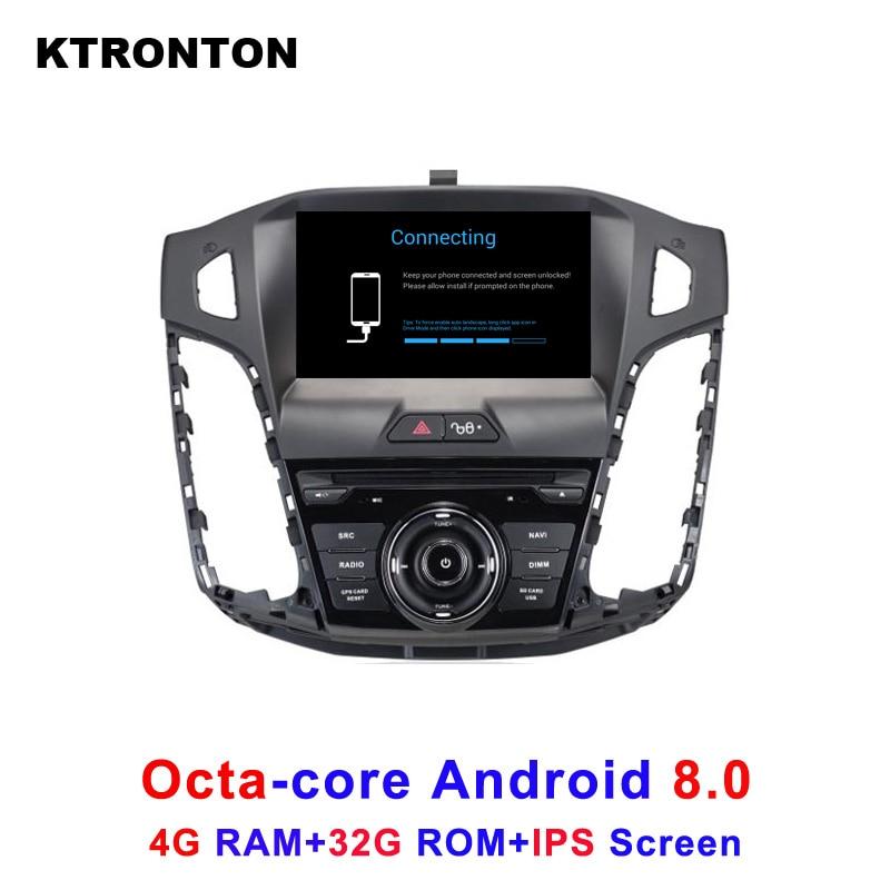 Восьмиядерный Android 8,0 dvd-плеер автомобиля для Ford Focus 3 2012-2014 с стерео аудио Радио BT магнитофон gps Wifi DVR ips экран