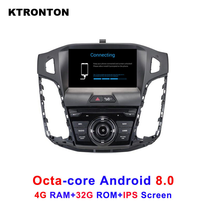 Octa-Core Android 8.0 Car DVD Player for Ford Focus 3 2012-2014 with Stereo Audio Radio BT Tape Recorder GPS Wifi DVR IPS Screen free mic 4gb ram 32gb rom octa core android 8 0 car dvd gps for ford focus 3 2012 2014 with radio bt wifi dvr mirror link obd