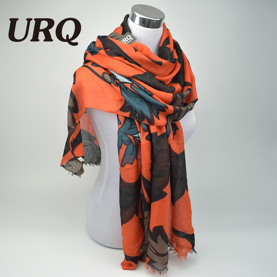 Designer Twill Cotton   Scarves   Big Flower Print Women Long Scarfs Ladies tassel Shawl   Wrap   X9A18435