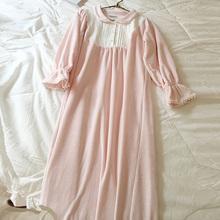 Damska Lolita księżniczka koszule nocne koszule nocne pałac w stylu Vintage sukienka w stylu koronki aksamitna koszule nocne jesień zima koszula nocna bielizna nocna salon tanie tanio Kobiety UNIKIWI S-0015 Wokół szyi Pełna Poliester Elastan Velvet Lace Połowy łydki Stałe