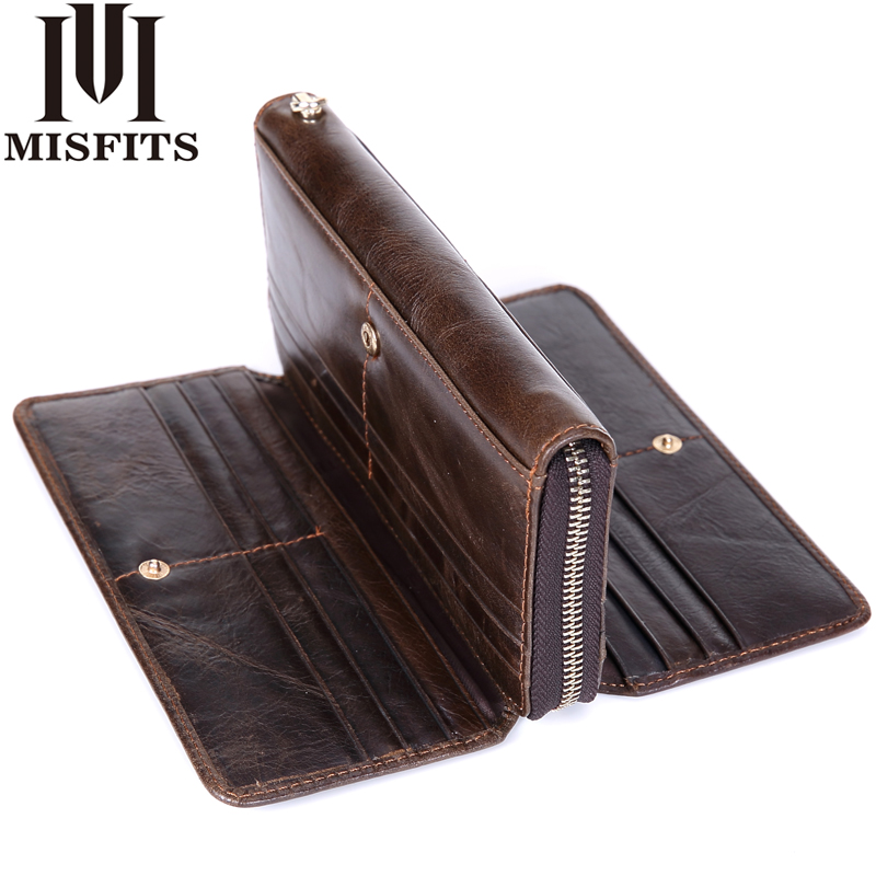 Genuine Leather Men Wallet Clutch Organizer design Long Purses Multi Card Holder Money Bag for Men Cowhide Men's Phone Wallets long wallets for business men luxurious 100% cowhide genuine leather vintage fashion zipper men clutch purses 2017 new arrivals