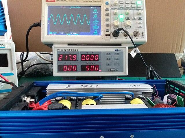 digital display 2000W pure sine wave inverter 12V/24V/48V DC to 110V/120V/220V AC solar power inverter