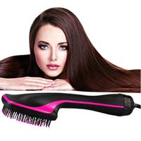 2 in1 Hair Dryer Brush Straightening Comb Hair Curler Blow Dryer Hair Curling Electric Salon Barber Hairstyling Tools