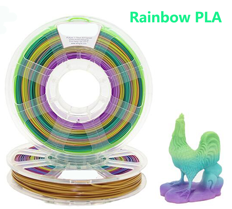 Rainbow color PLA 3d printer filament 1.75mm impressora 3d pla filament 3d pen plastic filament Multi pen-3d filamento PLA 3d printer pla filament 3mm 3kg yellow winbo 3d plastic filament eco friendly food grade 3d printing material free shipping