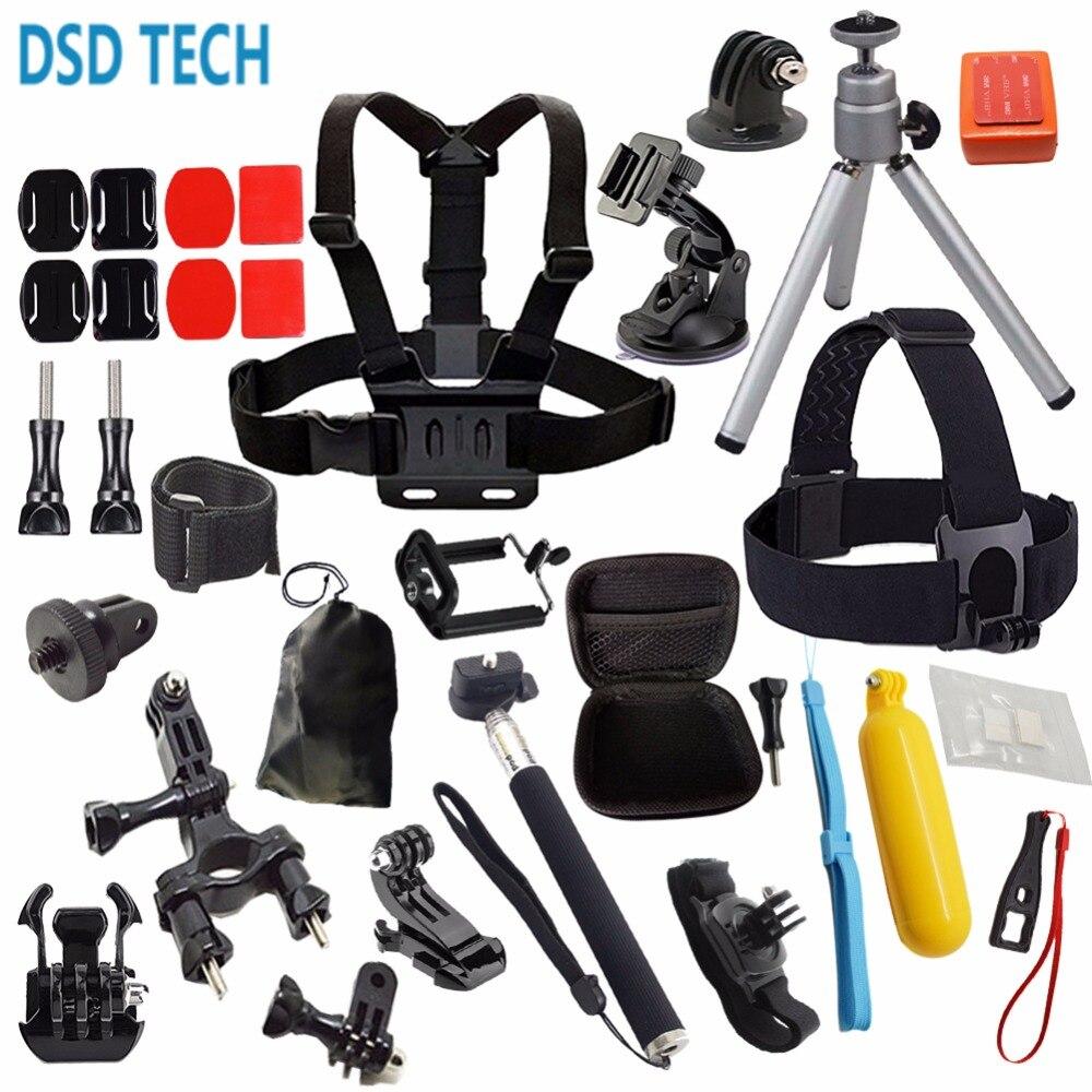 DSD TECH for Gopro hero 5 session black accessories kit mini case for gopro hero 5
