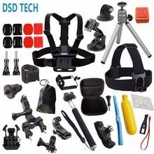DSD Tech для GoPro Hero 5 сессии черный комплект аксессуаров мини чехол для GoPro Hero 5 4 3 SJCAM SJ4000 аксессуары SJ5000X M20 07D