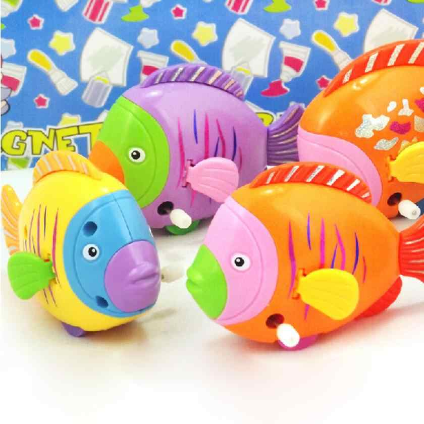 2018 New cheapest bath toy Fashion Baby Bath Chain On The Discus Fish Tail Moving ChildrenTake A bath Toy for bath Swim pool