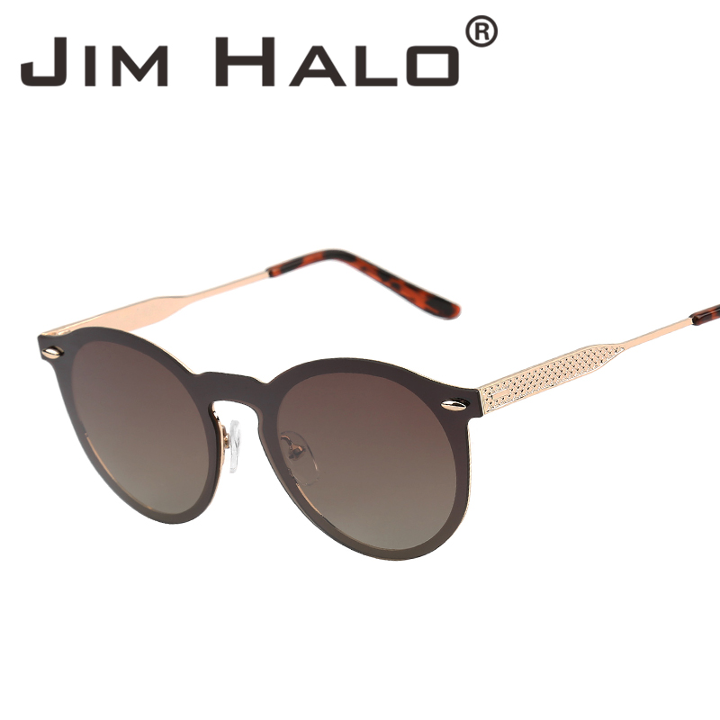 9f5eac2f376 Jim Halo Retro One Piece Round Rimless Polarized Mirrored Sunglasses Women  Men UV400 Metal Frame Vintage Frameless Sun Glasses