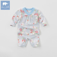 DB5834 dave bella autumn new born baby cotton floral romper infant clothes girls romper baby 1 piece