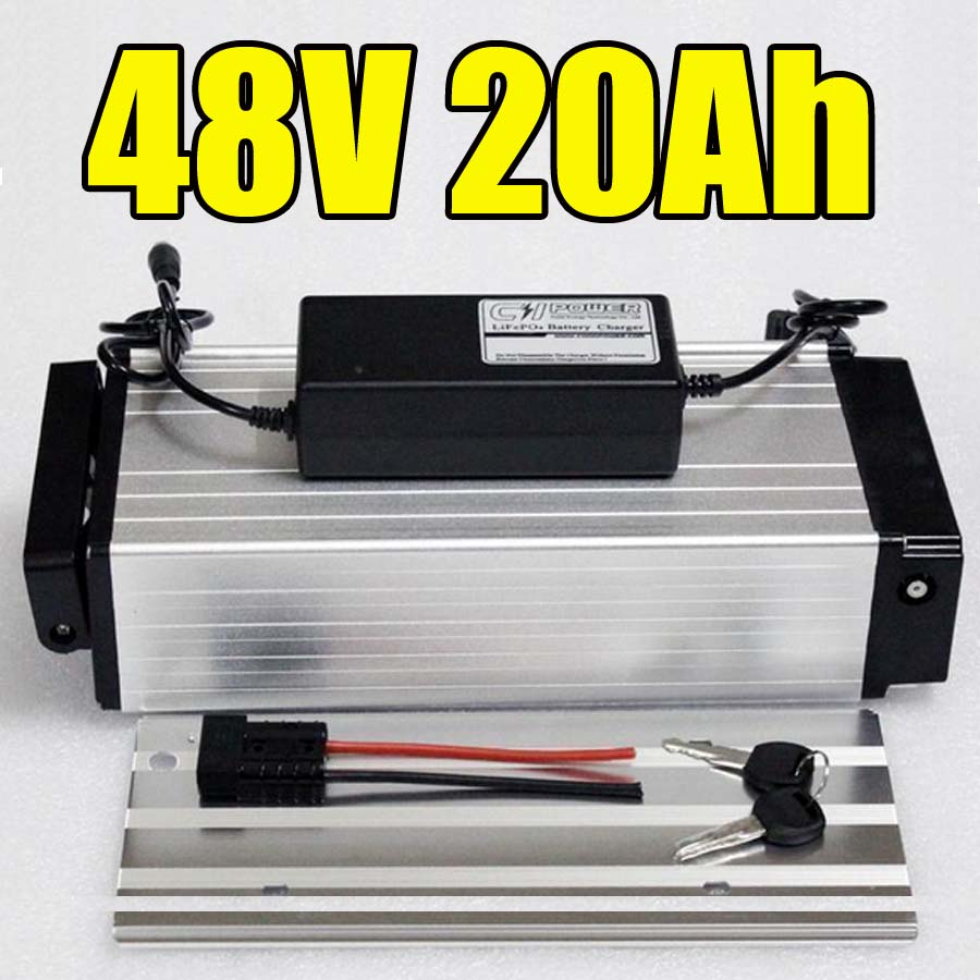 1000W Electric Bike Batteries 48v 20Ah Lithium Ion Battery use for Samsung Rear rack Electric Bicycle Battery BMS Charger 48v 15ah 700w bicycle battery use for samsung e bike battery 48v with 2a charger bms lithium electric bike scooter battery 48v
